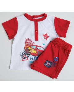 Pijama mânecă scurtă bebe 9/36 luni Cars