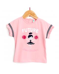 Tricou mânecă scurtă bebe 6/36 luni