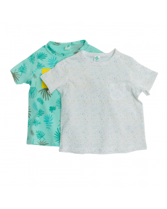 Set x2 tricouri bebe 6/36 luni