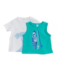 Set tricou și maieu bebe 6/36 luni
