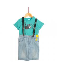 Tricou și pantaloni scurți bebe 9/36 luni