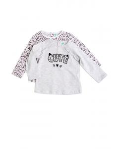 Setx2 tricouri bebe 6/36 luni
