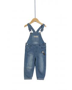 Salopetă jeans bebe 6/36 luni