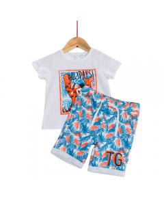 Set tricou și pantaloni bebe Tigger 6/36 luni