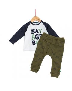 Tricou si pantaloni bebe 6/36 luni