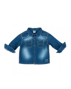 Cămașă bebe jeans 6/36 luni