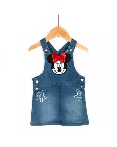 Sarafan jeans bebe 6/36 luni Minnie