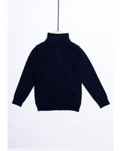 Jachetă uni tricotată băieți 2/14 ani