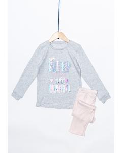 Pijama fete mânecă lungă 2/8 ani