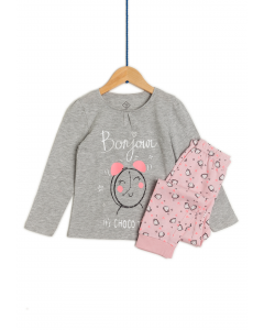 Pijama mânecă lungă băieți 2/8 ani