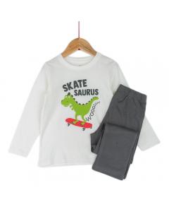 Pijama mânecă lungă băieți 3/8ani