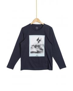Tricou imprimat mânecă lungă bărbați S/XXL