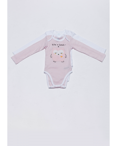 Set 2 body bebe mânecă lungă 3/36 luni