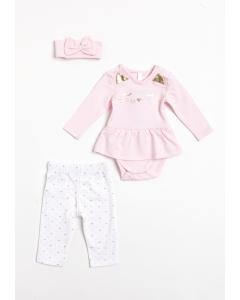 Set rochie și colanți nou născut 0/6 luni