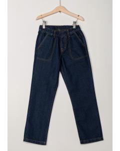 Jeans băieți cu elastic în talie 2/14 ani