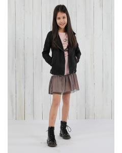 Jachetă piele sintetică fete 2/14 ani