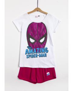 Pijama mânecă scurtă fete 9/14 ani Spider-Man