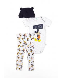 Set 3 piese bebe Mickey 3/23 luni
