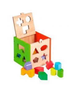 Joueco- Jucarie din lemn sortator de forme