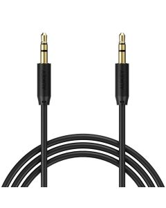 Cablu audio Aukey CB-V10, jack 3.5 mm, 1.2 m, conectori placati cu aur, negru