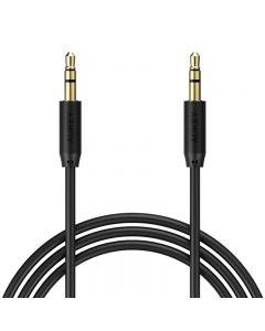 Cablu audio Aukey CB-V12B, jack 3.5 mm, 1.2 m, conectori placati cu aur, negru