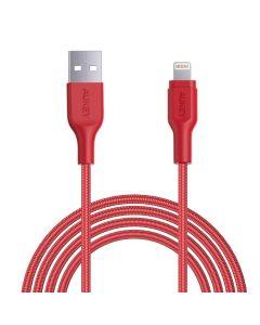 Cablu de date/incarcare Aukey CB-AL2R, pentru Apple, lungime 2 m, rosu
