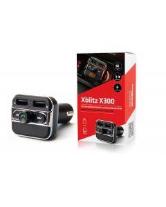 Modulator FM Xblitz X300, functie CarKit, Bluetooth, microfon incorporat, negru