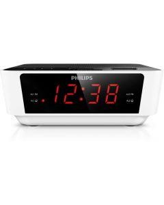 Radio cu ceas Philips AJ3115/12, Alb/Negru