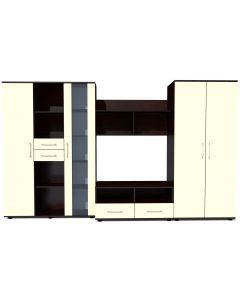 Biblioteca Selena Wenge/Vanilie, 292 x 200 x 57