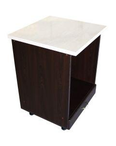 Corp pentru cuptor incorporabil cu sertar Zebra, wenge/MDF Wenge, cu blat Travertin, 60 x 85 x 60 cm