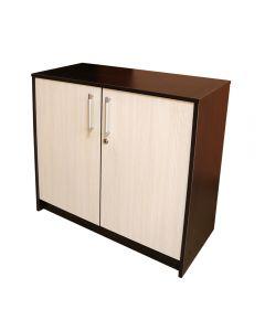 Cabinet 2 usi, Wenge/Brad, 80 x 84 x 36 cm