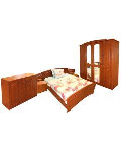 Dormitor Roma cu pat 140x200 cm, MDF Cedru