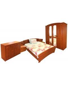 Dormitor Roma cu pat 160x200 cm, MDF Cedru