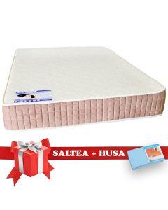 Set Saltea SuperOrtopedica Lux Saltex 140x200 cm + Husa cu elastic