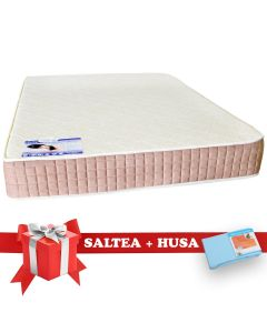 Set Saltea SuperOrtopedica Lux Saltex 160x200 cm + Husa cu elastic