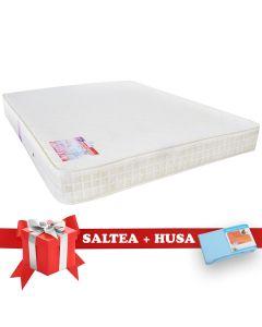 Set Saltea SuperOrtopedica Saltex 160x200 cm + Husa cu elastic