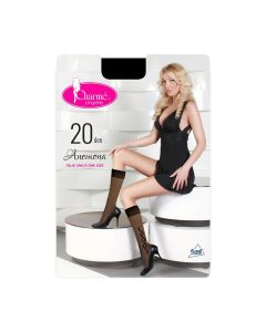 Sosete lungi femei Anemona Gb Fashion,Negru,Charme,20 DEN, marime unica