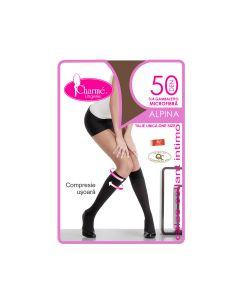 Sosete lungi femei Alpina 50 Gb 3/4,Cafe,Charme,50 DEN,marime unica