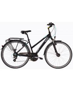"Bicicleta Dama DHS Travel 2858 450mm Negru 28"""