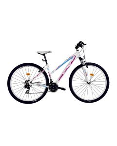"Bicicleta Dama DHS Teranna 2922 457mm Alb Roz 29"""