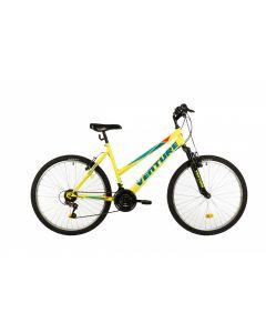 """Bicicleta MTB Venture 2602 500mm Galben 26"""""""