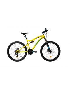 "Bicicleta MTB DHS Teranna 2645 440mm Galben 26"""