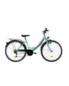 "Bicicleta Dama Kreativ 2614 420mm Turcoaz 26"""