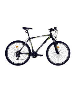 "Bicicleta MTB DHS Teranna 2623 457mm Negru/Verde 26"""