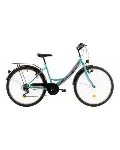 Bicicleta oras Dama KREATIV 2614 2018 Turcoaz 420 mm