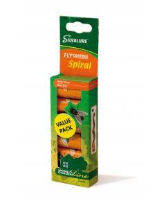 Capcana cu adeziv impotriva mustelor, fara insecticid, SILVALURE Spiral, 6 bucati/pachet