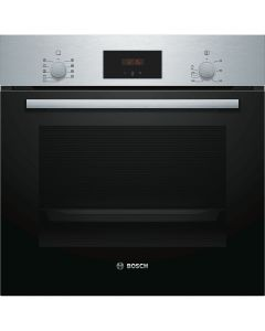 Bosch Cuptor incorporabil multifunctional HBF134ES0, 7 functii, 66 l, display LED, EcoClean Direct, inox