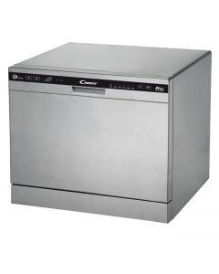 Masina de spalat vase compacta Candy CDCP 8/E-S, 8 seturi, 6 programe, indicator luminos sare, clasa A+, argintiu