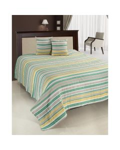 Heinner Set cuvertura pat dubla HR-CUV-220GRN, 200 x 220 cm, verde