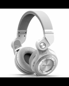 Casti Bluetooth Bluedio H+ Bluetooth 4.1, Wireless, Stereo, microfon incorporat, microSD, FM, Alb